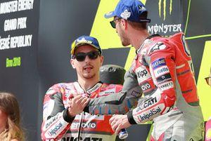 Podio: ganador, Andrea Dovizioso, Ducati Team, segundo, Jorge Lorenzo, Ducati Team