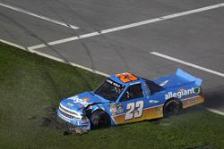 Crash de Spencer Gallagher, GMS Racing Chevrotel