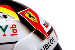 Helmdetail, Sebastian Vettel