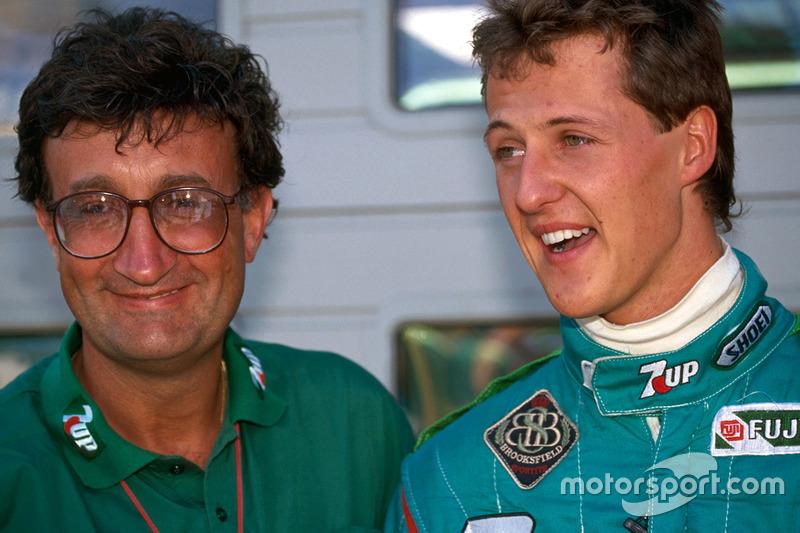 Michael Schumacher met Eddie Jordan