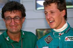 Michael Schumacher mit Eddie Jordan