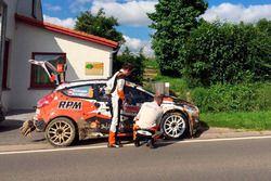 Сход Алексея Лукьянюка и Алексея Арнаутова, Ford Fiesta R5, Ралли Ипр