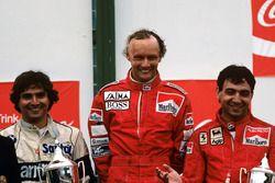 Nelson Piquet, Niki Lauda, Michael Alboreto