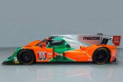 Special livery for the #55 Mazda celebrating the 25th anniversary of Mazda's win at Le Mans
