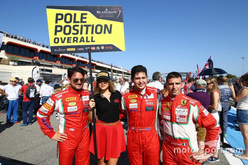 Overall polesitters #50 AF Corse Ferrari 488 GT3: Pasin Lathouras, Michele Rugolo, Alessandro Pier Guidi