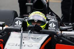 Серхио Перес, Sahara Force India F1 VJM09 на стартовой решетке