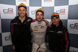 Podium: race winner Charles Leclerc, ART Grand Prix, second place Alexander Albon, ART Grand Prix, third place Nyck De Vries, ART Grand Prix
