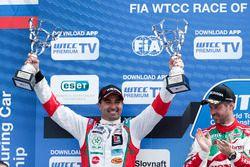 Podium : le deuxième, Mehdi Bennani, Sébastien Loeb Racing, Citroën C-Elysée WTCC