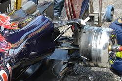 Détails de l'arrière de la Scuderia Toro Rosso STR11