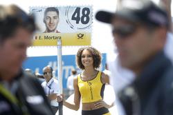 Grid girl of Edoardo Mortara, Audi Sport Team Abt Sportsline, Audi RS 5 DTM