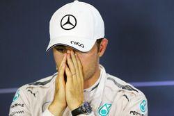 Nico Rosberg, de Mercedes AMG F1 en la Conferencia de prensa FIA