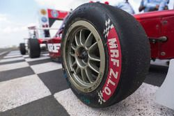 MRF tyre detail