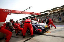 Pit stop, Mattias Ekström, Audi Sport Team Abt Sportsline, Audi A5 DTM
