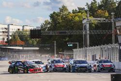 Petter Solberg, PSRX Citroën DS3 RX, Mattias Ekström, EKS RX Audi S1, Andreas Bakkerud, Hoonigan Rac