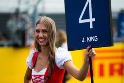 Grid girl for Jordan King, Racing Engineering
