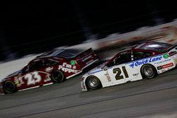 Ryan Blaney, Wood Brothers Racing Ford, David Ragan, BK Racing Toyota