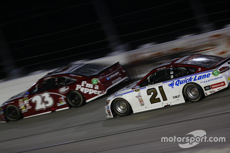 Ryan Blaney, Wood Brothers Racing Ford, David Ragan, BK Racing Toyota