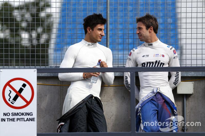 Mitch Evans, Jaguar Racing, e Antonio Felix da Costa, Amlin Andretti Formula E Team