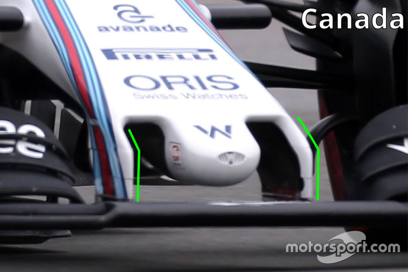 Williams FW38 nosecone detail