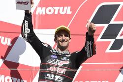 Podium: deuxième place Johann Zarco, Ajo Motorsport