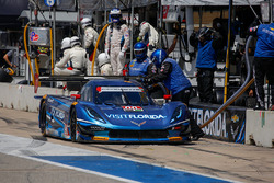#90 VisitFlorida.com Racing Corvette DP: Marc Goossens, Ryan Dalziel, pit action
