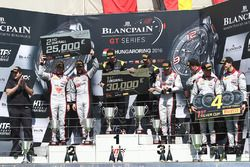 Podium: winners Dominik Baumann, Maximilian Bühk, Team HTP Motorsport, second place Frederic Vervisc