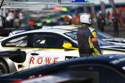 ROWE Racing mechanic in the pitlane