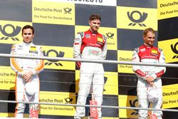 Podium: 2nd Robert Wickens, Mercedes-AMG Team HWA, Mercedes-AMG C63 DTM; 1st Edoardo Mortara, Audi Sport Team Abt Sportsline, Audi RS 5 DTM; 3rd Nico Müller, Audi Sport Team Abt Sportsline, Audi RS 5 DTM
