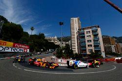 Oliver Rowland, MP Motorsport, Alex Lynn, DAMS e Antonio Giovinazzi, Prema Racing