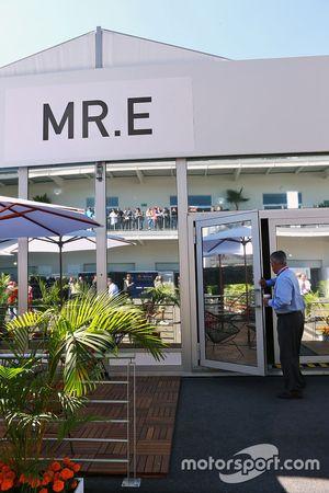 FOM building renamed Mr. E for Bernie Ecclestone