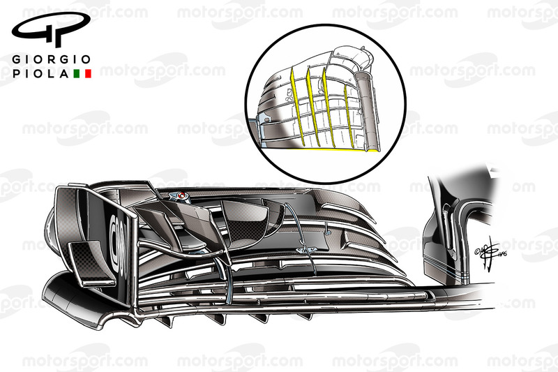 زعانف الجناح الامامي لسيارة مكلارين إم.بي4-31 فى المكسيك