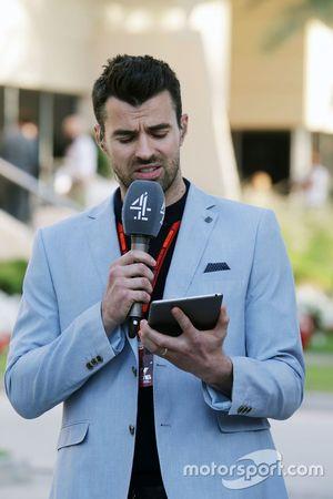 Стив Джей, ведущий Channel 4 F1