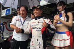 Polesitter Yuhi Sekiguchi, Team Impul with Kazuyoshi Hoshino, Team Impul Director