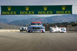 BMW rolling group shot around Laguna Seca