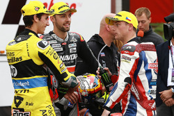 Race winner Jonas Folger, Dynavolt IntactGP, second place Alex Rins, Paginas Amarillas HP 40, third