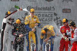 GTD podium: winners Jesse Krohn, Jens Klingmann, Turner Motorsport, second place Patrick Lindsey, Jö