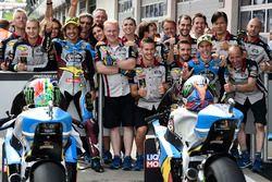 Marc VDs team with Franco Morbidelli, Marc VDS, Alex Marquez, Marc VDS