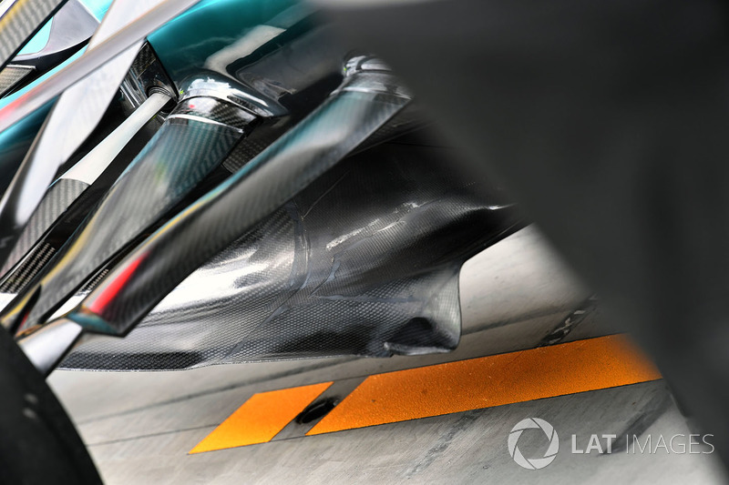 Аеродинамічні елементи Mercedes-Benz F1 W08 Hybrid