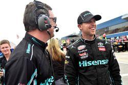 Denny Hamlin, Joe Gibbs Racing Toyota y Chris Gabehardt