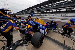 Alexander Rossi, Herta - Andretti Autosport Honda pit stop practice