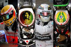 Les casques de Lewis Hamilton