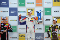 Podium: 1. Callum Ilott, Prema Powerteam, Dallara F317 - Mercedes-Benz; 2. Joel Eriksson, Motopark,