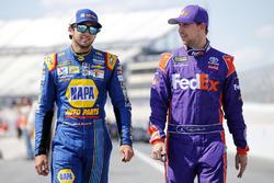 Chase Elliott, Hendrick Motorsports, Chevrolet; Denny Hamlin, Joe Gibbs Racing, Toyota