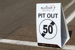 Pit out signage