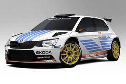 Skoda Fabia R5, diseño de celebración, Skoda Motorsport