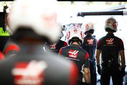 Les mécaniciens Haas F1 Team