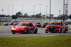 #18 RS1 Porsche Cayman: Aurora Straus, Connor Bloum, Nick Longhi, #75 Compass360 Racing Audi S3: Roy
