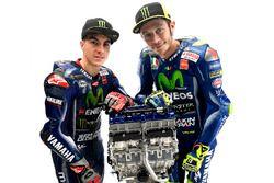 Valentino Rossi, Yamaha Factory Racing, Maverick Viñales, Yamaha Factory Racing with the YZR-M1 engine