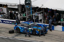 #14 3GT Racing, Lexus RCF GT3: Scott Pruett, Ian James, Gustavo Menezes, Sage Karam, pit action