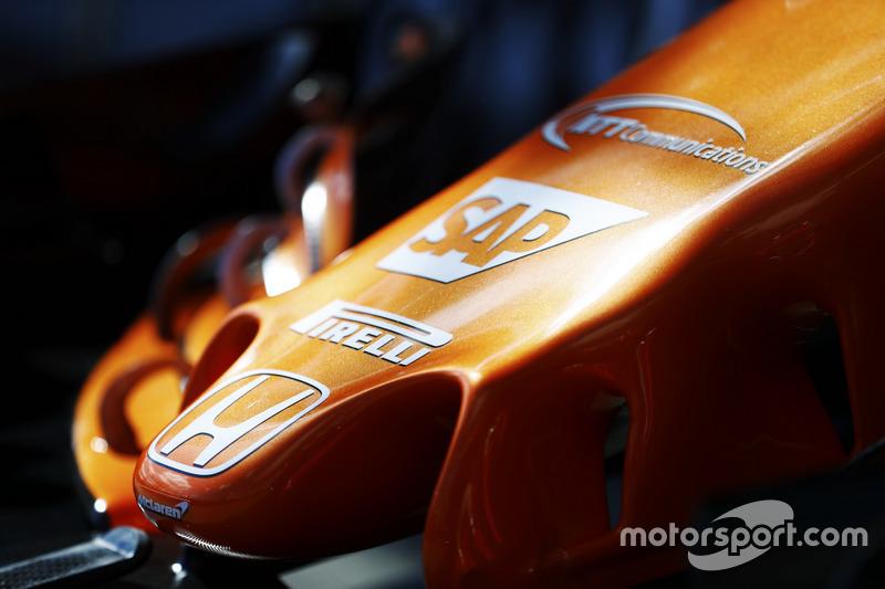 Frontpartie des McLaren MCL32